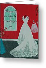 Whatever I Was Looking For Was Always You - Rumi Quote Greeting Card