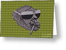 Whatssup Dawg Green Greeting Card