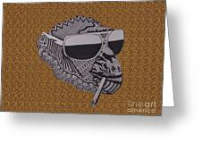 Whatssup Dawg  Leopard Greeting Card