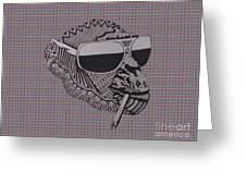 Whatssup Dawg Tartan Greeting Card