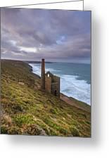 Wheal Coates Tin Mine Greeting Card