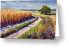 Wheat Field Road Greeting Card