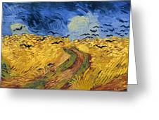 Wheat Field With Crows Greeting Card
