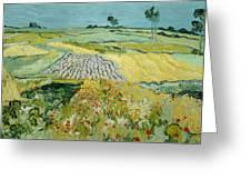 Wheatfields Near Auvers-sur-oise Greeting Card