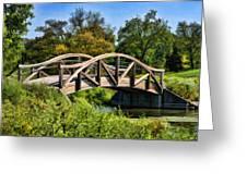 Wheaton Northside Park Bridge Greeting Card