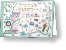 Wheatshires Aincient Map Greeting Card