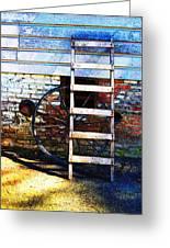 Wheel And Ladder Greeting Card