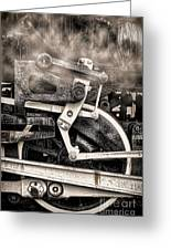 Wheel And Steam Greeting Card
