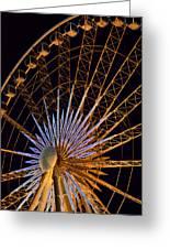 Wheel At Night Niagara Falls Greeting Card