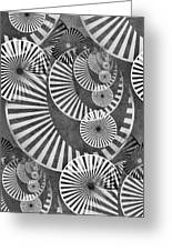 Wheel In The Sky Bw Greeting Card by Angelina Vick