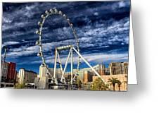 Wheel In The Sky Las Vegas Greeting Card