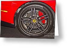Wheel Of A Ferrari Greeting Card
