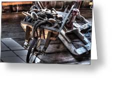 Wheelbarrow At Shipyard Greeting Card