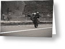 Wheelie By The Park Greeting Card