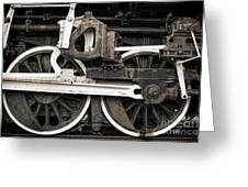 Wheels And Rods Greeting Card