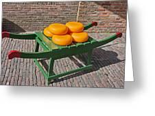 Wheels Of Dutch Gouda Cheese Greeting Card by Artur Bogacki