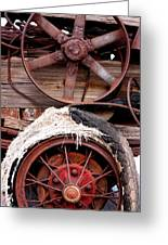Wheels Of Misfortune Greeting Card