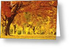 When Autumn Leaves Fall Greeting Card