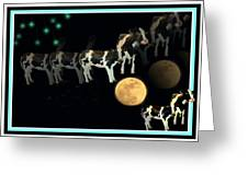 When Cows Jump Over The Moon Greeting Card