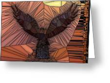 When Eagles Fly Greeting Card