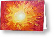 When Fire Falls Greeting Card