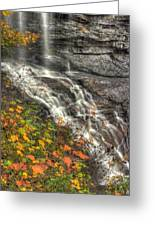 When Light And Water Falls-5a Blackwater Falls State Park Wv Autumn Mid-morning Greeting Card