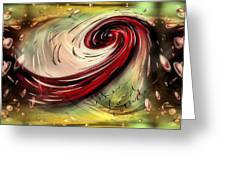 When Love Collides Greeting Card by Michelle Ressler