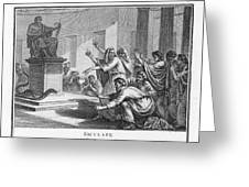 When Plague-afflicted Romans  Come Greeting Card