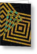 When Squares Merge Yellow Greeting Card