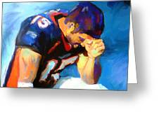 When Tebow Was A Bronco Greeting Card by GCannon