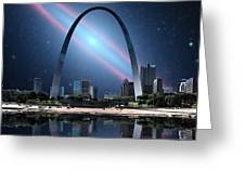 When The Galaxy Came To St. Louis Greeting Card