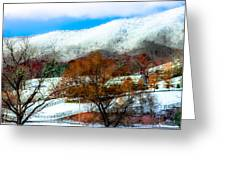 When Winter Blankets Autumn Greeting Card