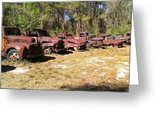 Where Old Vehicles Go Greeting Card