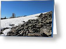 Where Snow Meets Rock Greeting Card