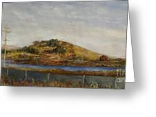 Where The Bay Meets The Hill Greeting Card