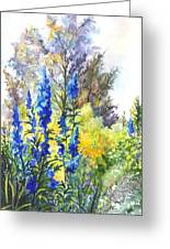 Where The Delphinium Blooms Greeting Card
