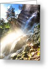 Where The Light Meets The Water Greeting Card