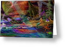 Where The Mermaids Meet Greeting Card