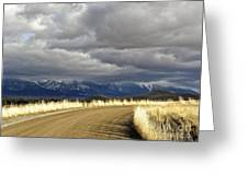 Where The Mountains Meet You Greeting Card