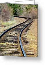 Where The Tracks Bend Greeting Card