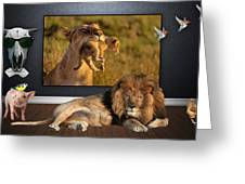 While The Lion Sleeps Tonight Greeting Card