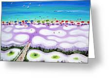 Whimsical Beach Umbrellas - Seashore Greeting Card