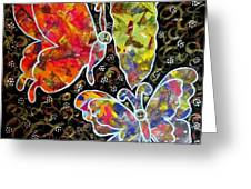 Whimsical Painting- Colorful Butterflies Greeting Card