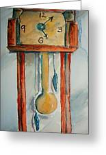 Whimsical Time Piece Greeting Card
