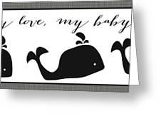 Whimsical Whale Greeting Card