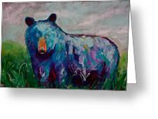 Whimsy Bear Painting Black Bear Brown Bear Wall Art Greeting Card