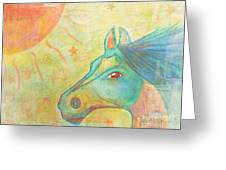 Whimsy Colorful Horse Greeting Card