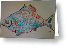 Whimsy Fish Greeting Card
