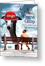 Whippet Art - Forrest Gump Movie Poster Greeting Card