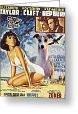 Whippet Art - Suddenly Last Summer Movie Poster Greeting Card